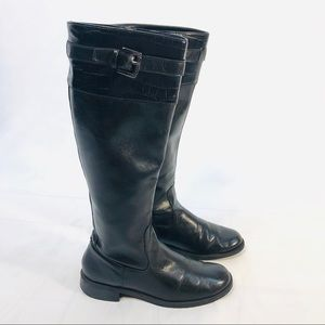 Aerosoles Waterride black leather boots